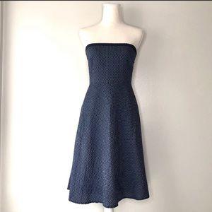 J. Crew A-Line Strapless Summer Cotton Dress